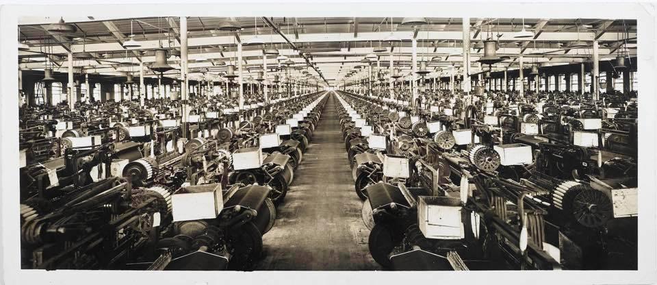 vintage denim manufacturing plant