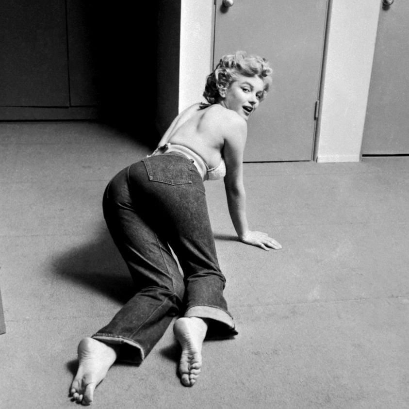 Marilyn Munroe in jeans