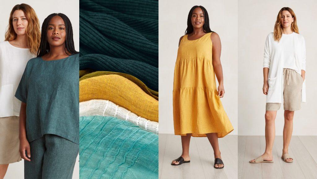 women and fabrics