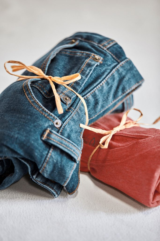 gift wrapped jeans
