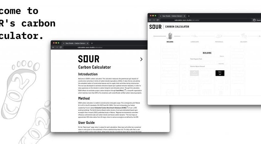 SOUR Launches Carbon Calculator for Architecture and Construction