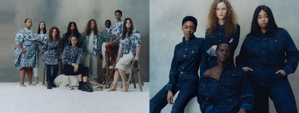 women in dresseds / women in denim