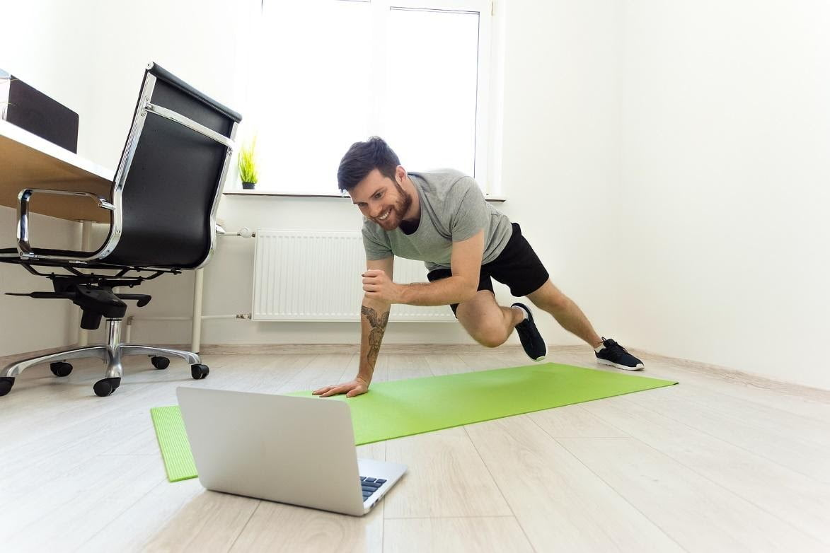 excercising at home