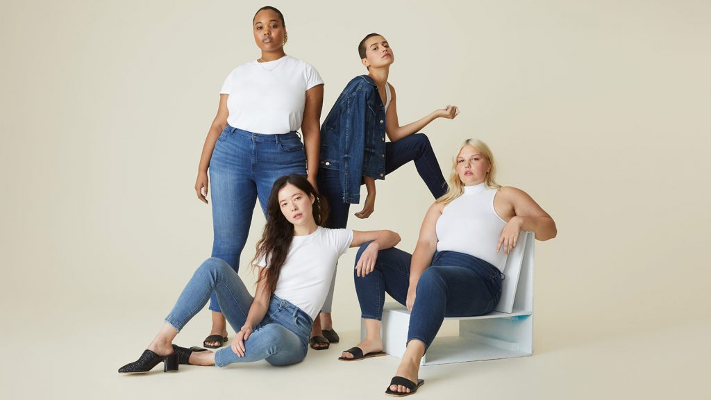 4 ladies in jeans and white tshirts
