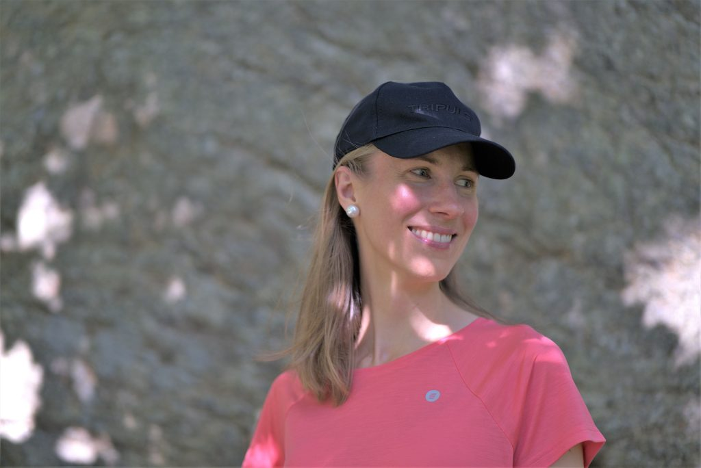 Girl in the wild wearing sustainable activewear