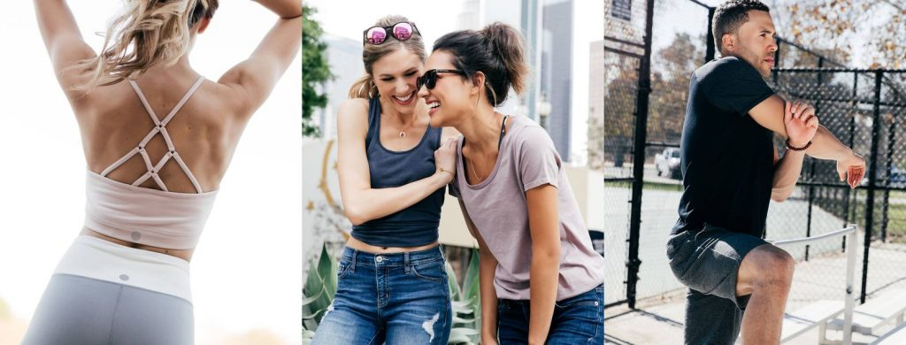 Young people in sustainable activewear