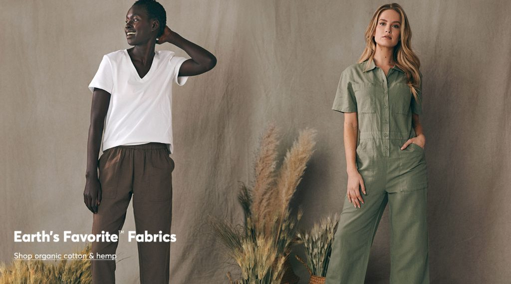 Ladies in organic fabrics