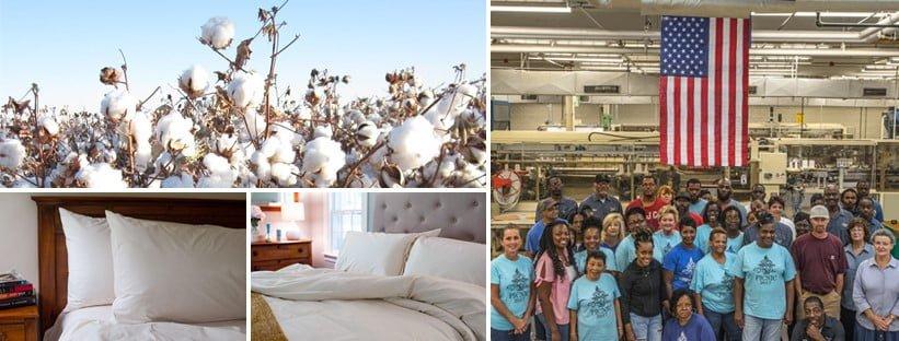 American Blossom Linens, cotton, bedding, happy team