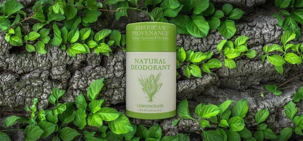 green lemongrass deodorant container