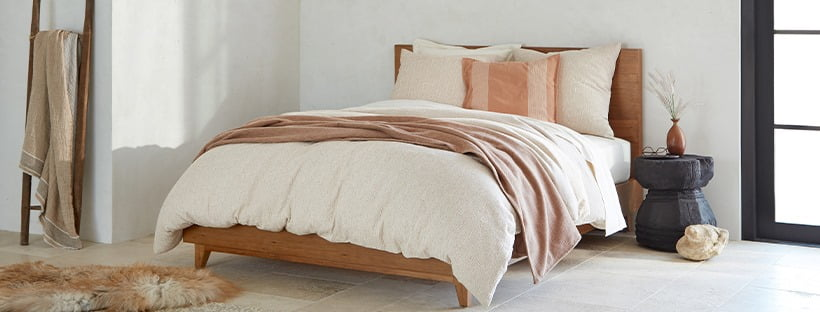 sustainable sheets in neutral colors