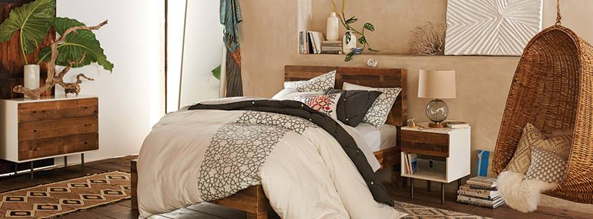 light brown bedroom beautifully decorated