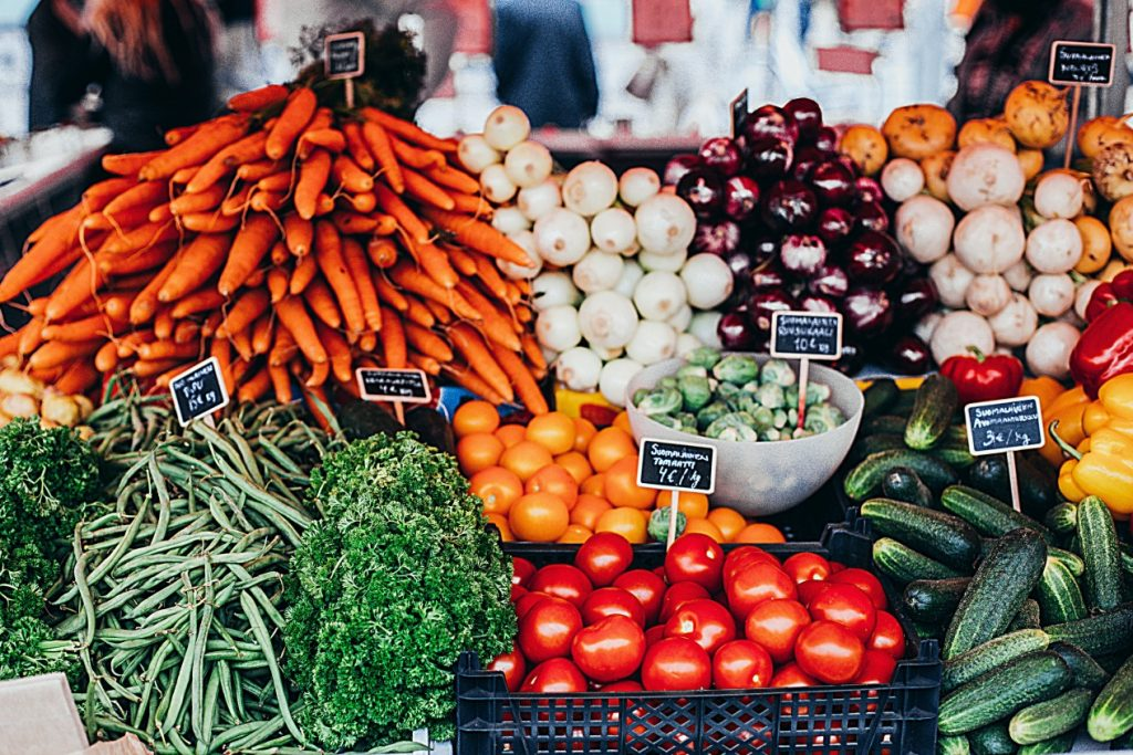 eco friendly lifestyle vegetable stall