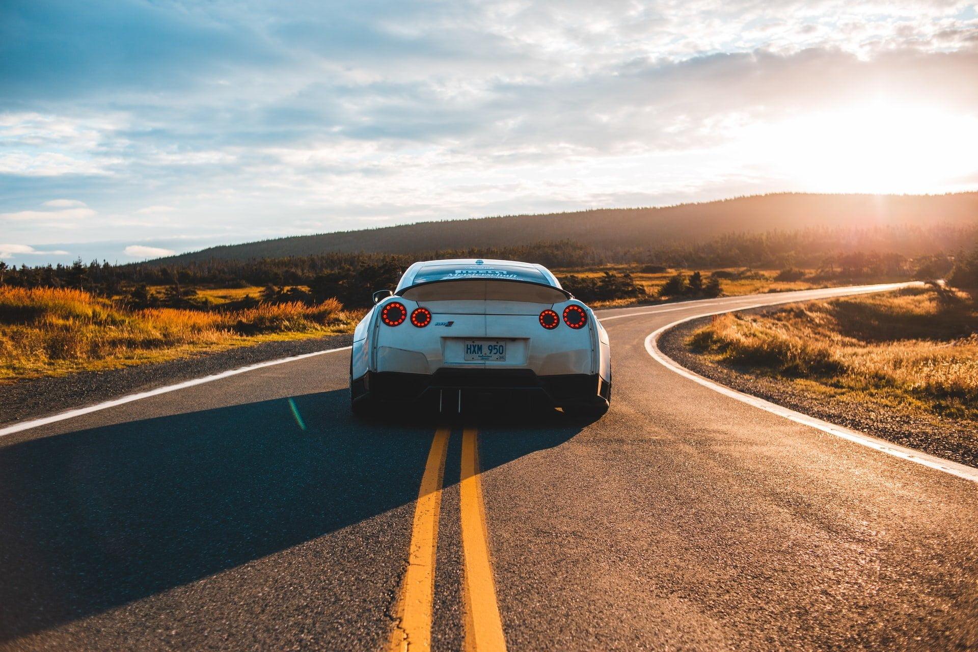 car on open road