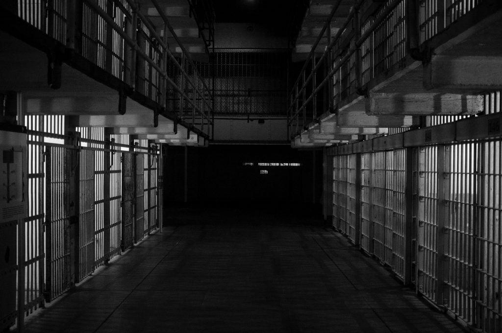 inside a prison, modern slavery